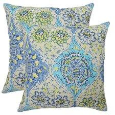 Kings Turban Cotton Throw Pillow (Set of 2)