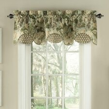 Garden Glory Scalloped Floral Curtain Valance