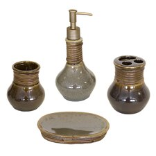 Caraway 4 Piece Bathroom Accessory Set