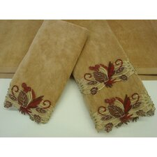 Romantica Sage Decorative 3 Piece Towel Set