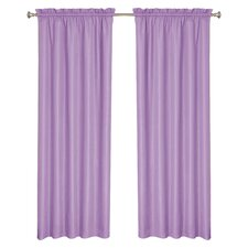 Kids Wave Rod Pocket Window Single Curtain Panel