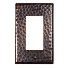 Hammered Copper Single GFCI Plate