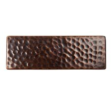 """Solid Hammered Copper 6"""" x 2"""" Decorative Accent Tile in Antique Copper"""