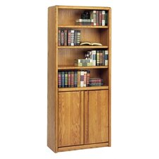 "70"" Standard Bookcase with Lower Doors"