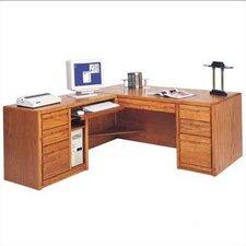 Contemporary L-Shape Executive Desk (Left)