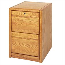 Contemporary Medium Oak 2 Drawer File Pedestal