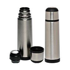 25 Oz. Black Band Stainless Steel Vacuum Flasks