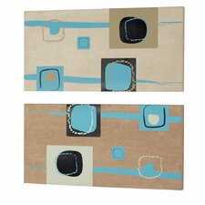 2 Piece Square Painting Print Set