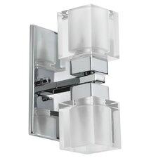 New Era Glass Cube 2 Light Vanity Light