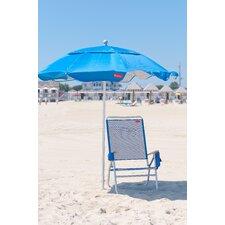 6 ft. Diameter Fiberglass Beach Haven Umbrella - Pacific Blue