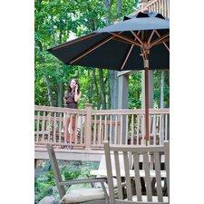 7.5 ft. Octagonal Commercial Grade Wooden Market Umbrella