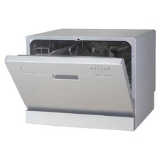 "21.65"" 55 dBA Compact Dishwasher in Silver  (Energy Star Certified)"