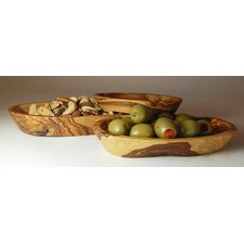 Olive Wood Candy / Nut Bowl 3 Piece Set