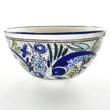 Aqua Fish Design Salad Bowl