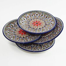 "Tabarka Design 8"" Side Plates (Set of 4)"