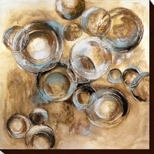 Circles 1 Printing Print on Wrapped Canvas