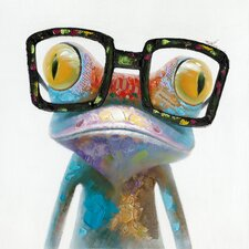 Smart Frog Painting Print on Wrapped Canvas