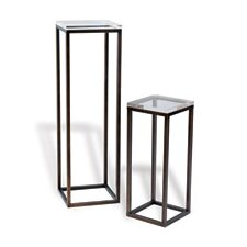 Drake Lucite 2 Piece Nesting Tables