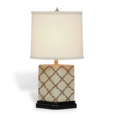 "Istanbul Trellis 16"" H Table Lamp with Drum Shade"