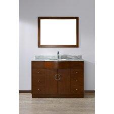 "Zed 48"" Single Bathroom Vanity Set with Mirror"