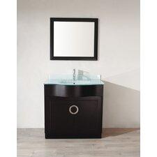 "Zed 42"" Single Bathroom Vanity Set with Mirror"