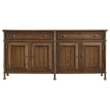 European Farmhouse 2 Drawer 2 Door Campagne Cabinet