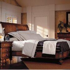 The Classic Portfolio British Colonial Sleigh Customizable Bedroom Set