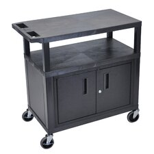 Fixed Height Presentation Cart with Cabinet