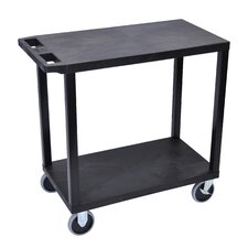 E Series Heavy Duty Utility Cart with 2 Flat Shelves