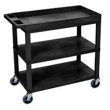 E Series Utility Cart with 2 Shelves
