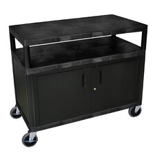 Extra Wide Coffee Cart with Cabinet