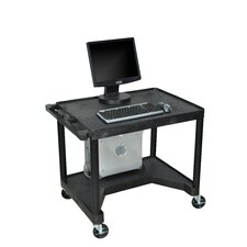 High Workstation with Leg Room Cut-Out