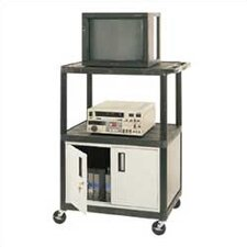 Open Shelf Endura Video Cart with Locking Cabinet