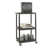 High Low Priced Table with Locking Cabinet/BigWheels/Electric
