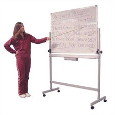 Large Double Sided Adjustable Free-Standing Reversible Whiteboard, 6' x 4'