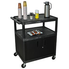 Large Coffee Cart with Cabinet