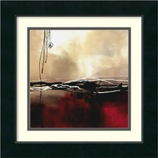 'Symphony in Red and Khaki I' by Laurie Maitland Framed Painting Print