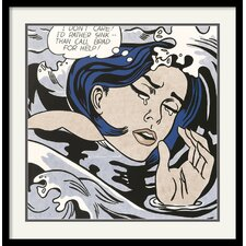 'Drowning Girl' by Roy Lichtenstein Framed Painting Print