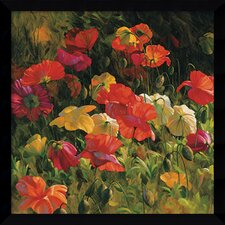 'Iceland Poppies' by Leon Roulette Framed Art Print