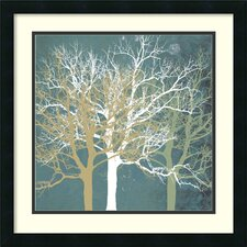 'Tranquil Trees' by Erin Clark Framed Painting Print
