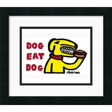 'Dog Eat Dog' by Peter Marco Framed Graphic Art