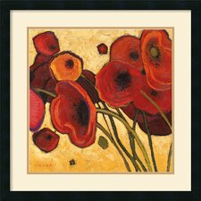 'Poppies Wildly I' by Shirley Novak Framed Painting Print