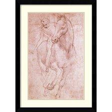 'Horse & Rider' by Leonardo da Vinci Framed Art Print