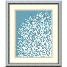 'Aqua Coral I' by Sabine Berg Framed Painting Print