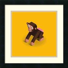 'Monkey' by Bo Virkelyst Jensen Framed Art Print
