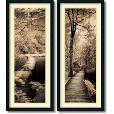 'A Quiet Stroll' by Ily Szilagyi 2 Piece Framed Photographic Print Set