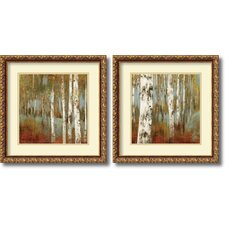 'Alongthe Path' by Allison Pearce 2 Piece Framed Painting Print Set
