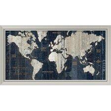 'Old World Map' by Wild Apple Portfolio Framed Graphic Art