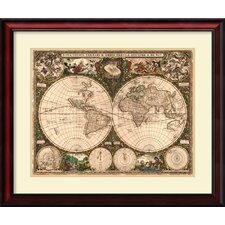 'World Map, 1660' by Ward Maps Framed Graphic Art