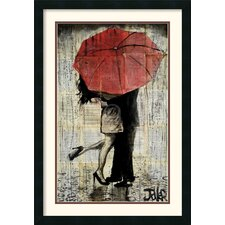 The Red Umbrella by Loui Jover Framed Painting Print